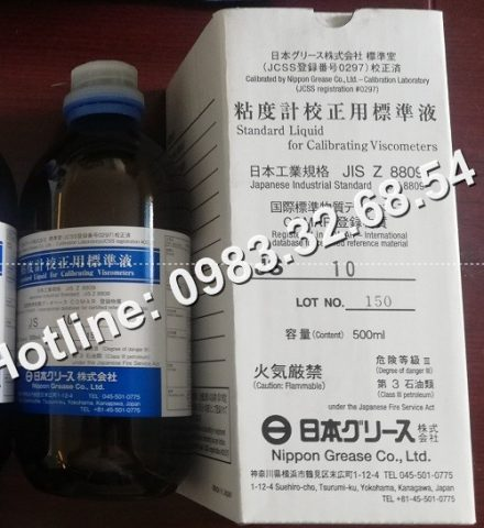 Chất lỏng tiêu chuẩn cho máy đo độ nhớt Nippon Grease J10