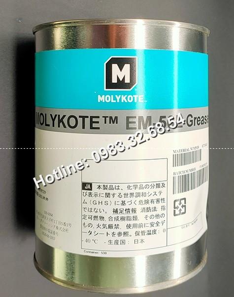 Thay đổi bao bì mới của mỡ Molykote EM-50L hộp 1kg