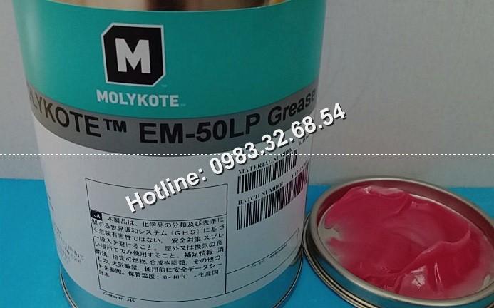 Mỡ Molykote EM-50LP màu hồng hộp 1kg